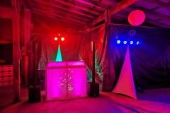 DJ Booth beleuchtet